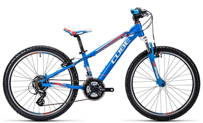 8846f0df6cd Cube Kid 240 24 inch boys bike blue white flashred £287.10