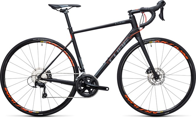 Cube Attain SL Disc 2017 road bike Black/Flashred