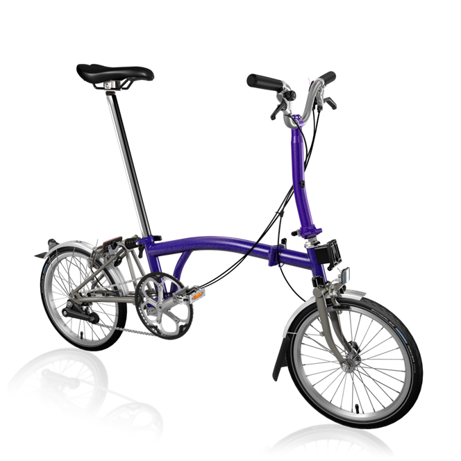 Brompton M2L Ti 2019 Purple Metallic