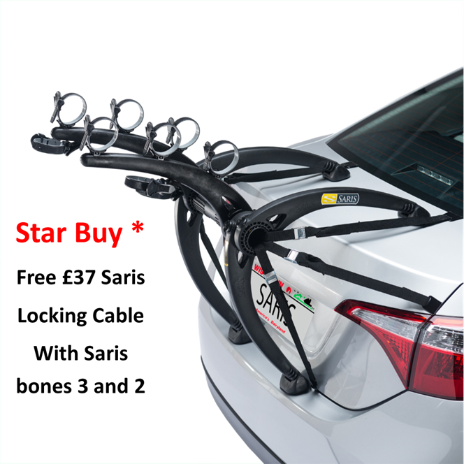 Saris Bones 3 Bike Car Rack Black